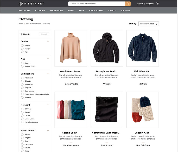 Fibershed Marketplace beta